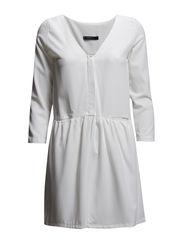 Flared shirt dress - Natural white
