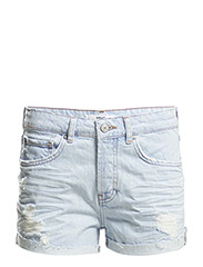 Denim cotton shorts - Open blue