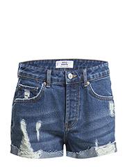 Denim cotton shorts - Open blue