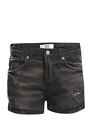 Cotton ripped shorts - Open grey