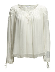 Lace textured blouse - Natural white