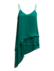 Layered satin top - Bright green