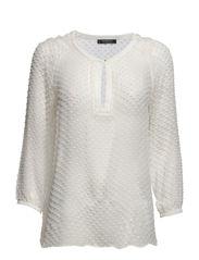 Plumeti silk-blend blouse - Natural white