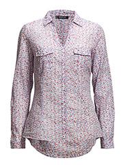 Printed cotton shirt - Lt-pastel pink