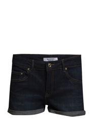 Dark denim shorts - Open blue