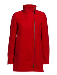 Funnel neck coat - Red