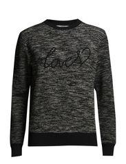 Love flecked sweatshirt - Black