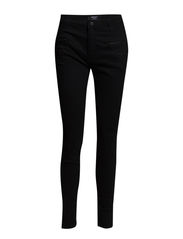 Zip slim-fit trousers - Black