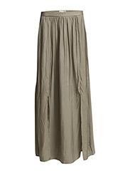 Slit hem skirt - Medium brown