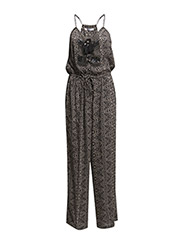 Bead printed jumpsuit - Black