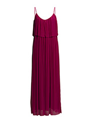 Long pleated dress - Dark red