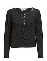 Beaded cotton jacket - Black