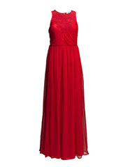 Pleated gown - Bright red