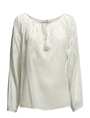 Embroidered blouse - Natural white
