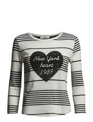 Printed striped t-shirt - White