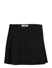 Neoprene-effect fluted-hem skirt - Black