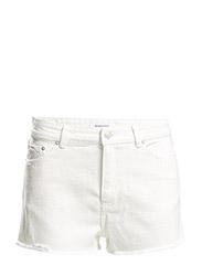 White denim shorts - Natural white