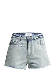 Medium denim shorts - Open blue