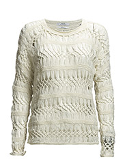 Openwork sweater - Natural white