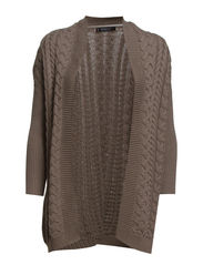 Cable-knit cardigan - Medium brown