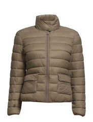 Foldable feather down jacket - Medium brown