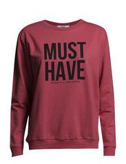 Message cotton-blend sweatshirt - Medium pink