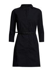 Belted shirt dress - Navy