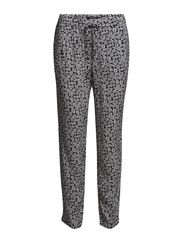 Printed flowy trousers - Light beige