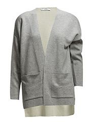 Asymmetric cardigan - Grey