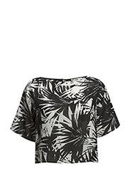 Printed blouse - Black
