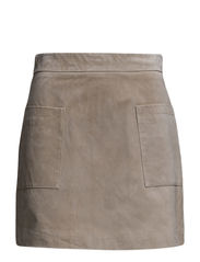 Suede skirt - Natural white
