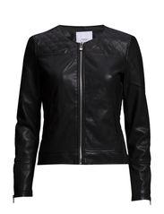 Stitched panel jacket - Black