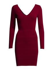 Stripe textured dress - Medium pink