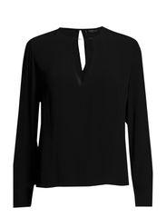 Metal appliqu blouse - Black