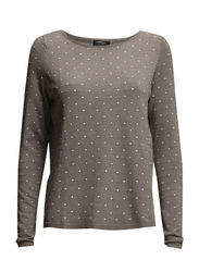 Embossed polka-dot sweater - Medium brown