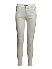 Zip cotton trousers - Natural white
