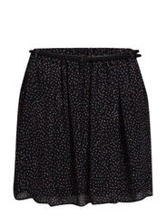 Belt printed skirt - Black