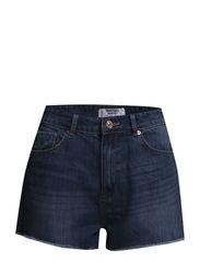 High waist shorts - Open blue