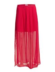 Side slit hem skirt - Medium pink