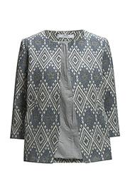 Jacquard jacket - Medium brown