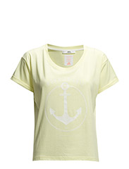 Cotton message t-shirt - Bright yellow