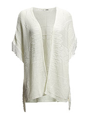 Fringed caftan - Light beige