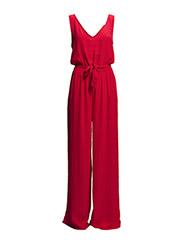 Bow printed jumpsuit - Medium pink