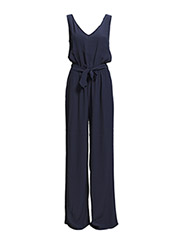 Bow printed jumpsuit - Navy