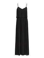 Long pleated dress - Black