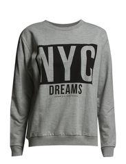 Message cotton-blend sweatshirt - Medium grey