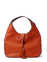 Tassel hobo bag - Medium brown