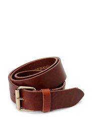 Leather belt - Medium brown