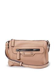 Zipped pebbled bag - Lt pastel brown