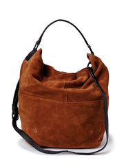 Leather hobo bag - Dark brown